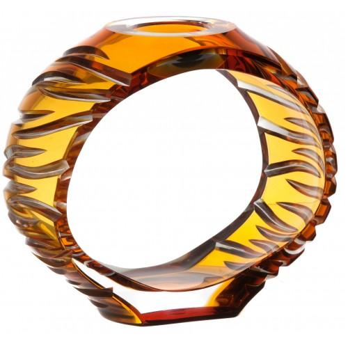 Krištáľový svietnik Ara, farba jantárová, výška 165 mm