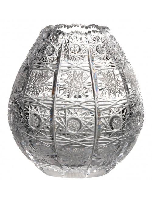 Krištáľová váza 500PK, farba číry krištáľ, výška 135 mm