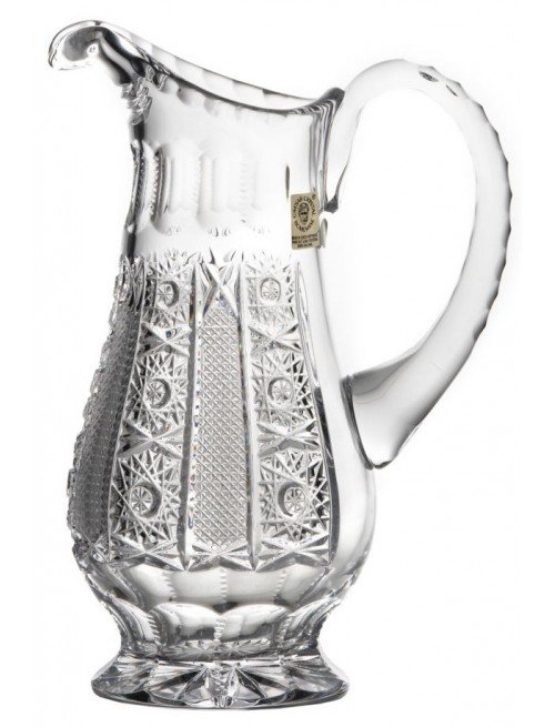 Krištáľový džbán Iris, farba číry krištáľ, objem 1150 ml