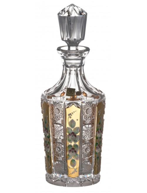 Krištáľová fľaša 500K Zlato, farba číry krištáľ, objem 750 ml