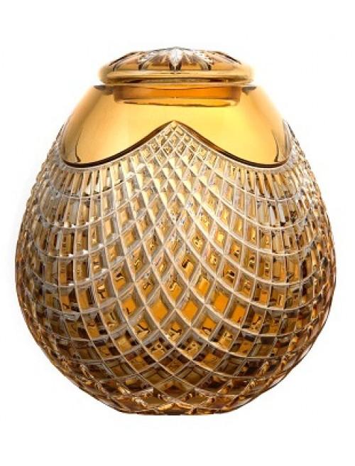 Krištáľová urna Quadrus, farba jantárová, výška 230 mm