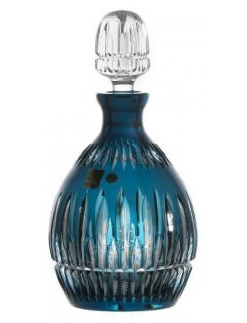 Krištáľová fľaša Thorn, farba azúrová, objem 700 ml