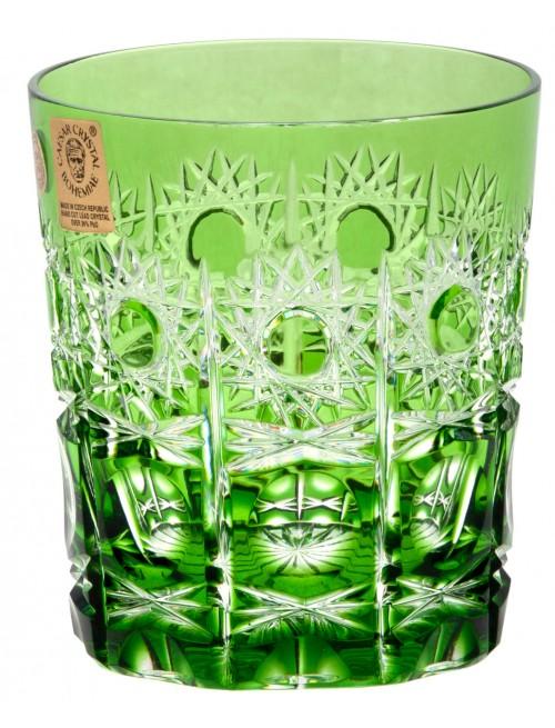 Krištáľový pohár Petra, farba zelená, objem 290 ml