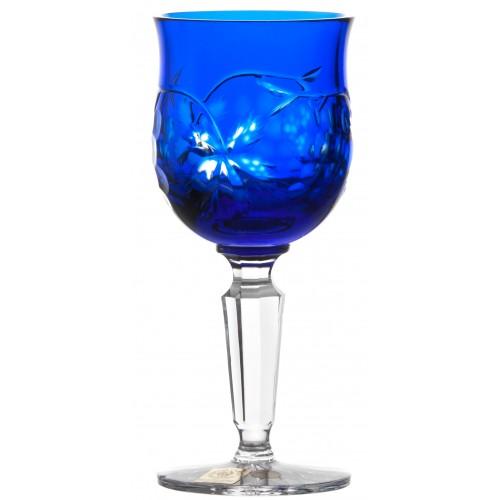 Krištáľový pohár na víno Grapes, farba modrá, objem 140 ml