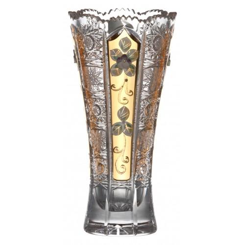 Krištáľová váza 500K Zlato, farba číry krištáľ, výška 205 mm