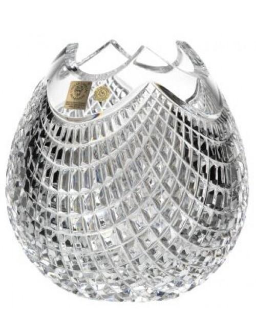 Krištáľová váza Quadrus, farba číry krištáľ, výška 210 mm