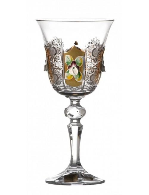 Krištáľový pohár na víno Laura 500K zlato, farba číry krištáľ, objem 170 ml