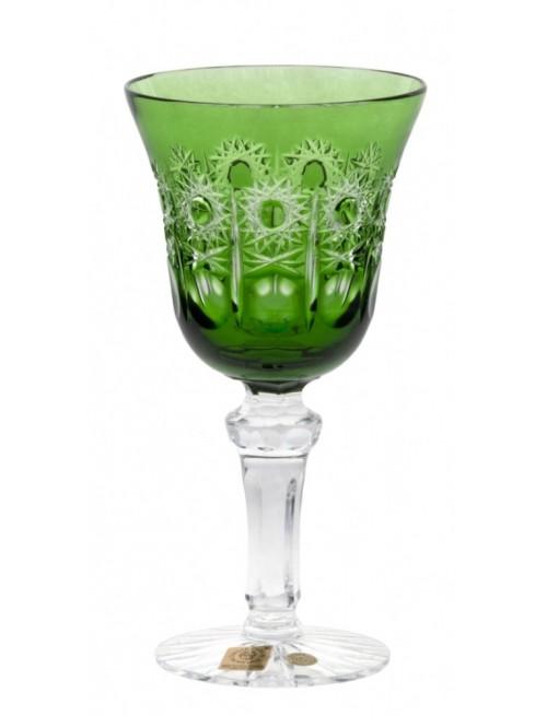 Krištáľový pohár na víno Petra, farba zelená, objem 180 ml