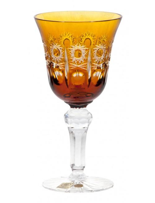 Krištáľový pohár na víno Petra, farba jantárová, objem 180 ml