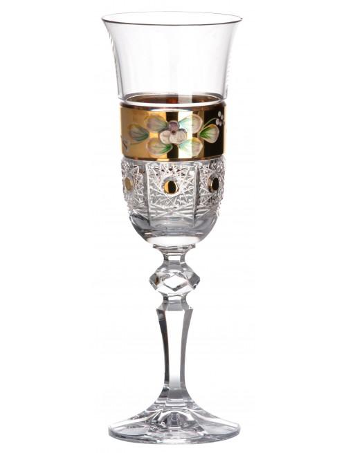 Krištáľová flauta 500K Zlato, farba číry krištáľ, objem 150 ml