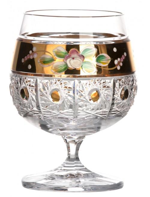 Krištáľový pohár 500K Zlato, farba číry krištáľ, objem 250 ml