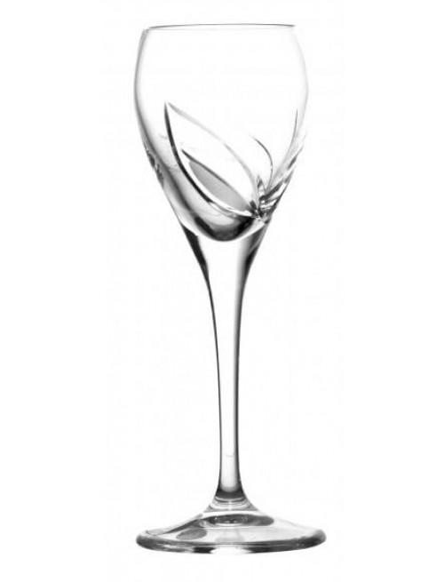 Krištáľový pohár List, farba číry krištáľ, objem 90 ml