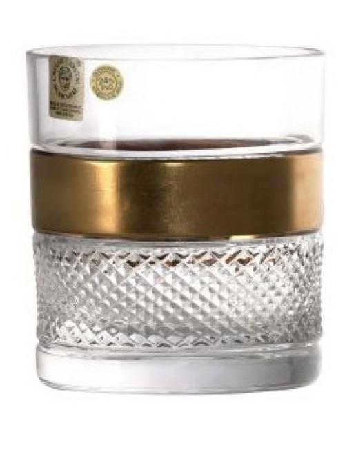 Krištáľový pohár Zlato, farba číry krištáľ, objem 380 ml