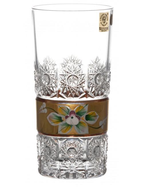 Krištáľový pohár 500K Zlato, farba číry krištáľ, objem 350 ml