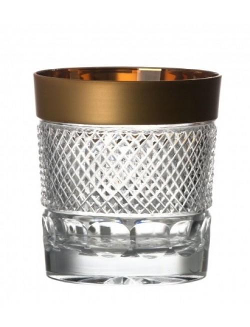 Krištáľový pohár zlato, farba číry krištáľ, objem 310 ml