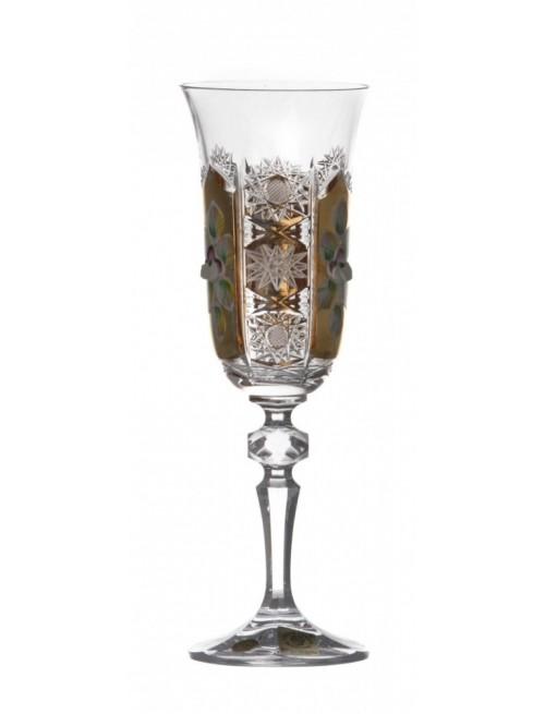 Krištáľový pohár na víno Zlato, farba číry krištáľ, objem 150 ml
