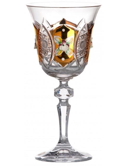 Krištáľový pohár na víno smalt, farba číry krištáľ, objem 220 ml