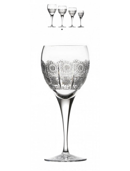 Krištáľový pohár na víno Fiona, farba číry krištáľ, objem 340 ml