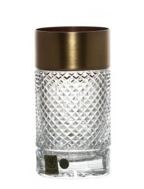 Krištáľový pohár Zlato mat, farba číry krištáľ, objem 350 ml