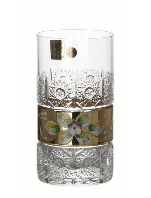 Krištáľový pohár zlato, farba číry krištáľ, objem 350 ml
