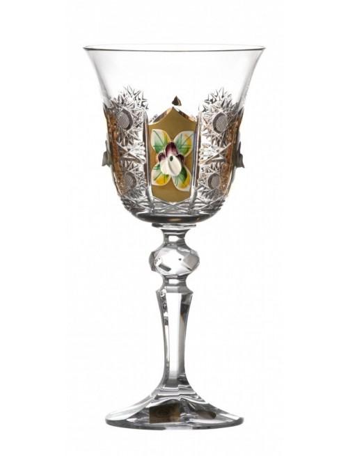 Krištáľový pohár na víno zlato, farba číry krištáľ, objem 170 ml