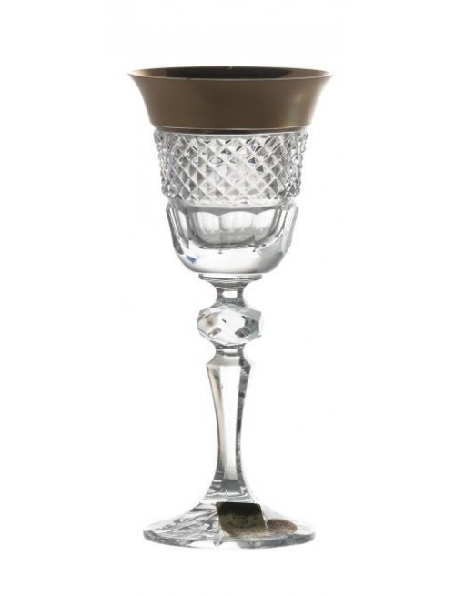 Krištáľový pohárik Laura Zlato mat, farba číry krištáľ, objem 60 ml