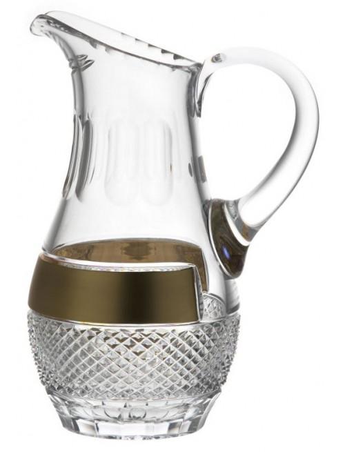 Krištáľový džbán zlato, farba číry krištáľ, objem 1500 ml