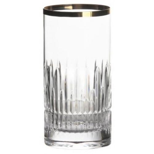 Krištáľový pohár Thorn zlato, farba číry krištáľ, objem 351 ml