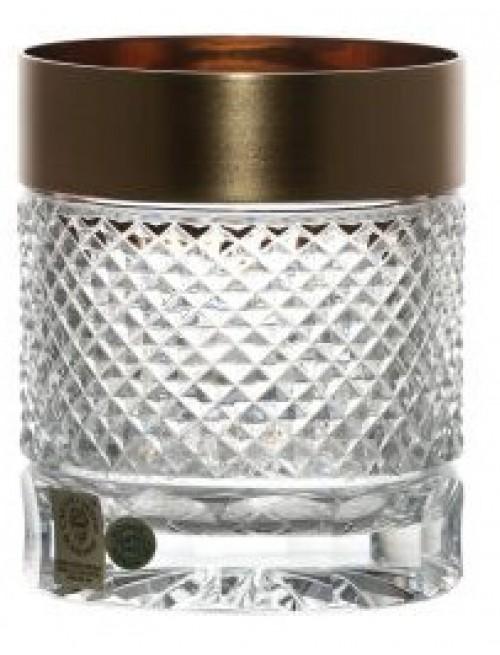 Krištáľový pohár Whisky zlato mat, farba číry krištáľ, objem 320 ml