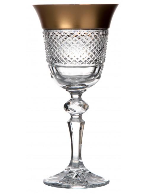 Krištáľový pohár na víno Zlato mat, farba číry krištáľ, objem 170 ml