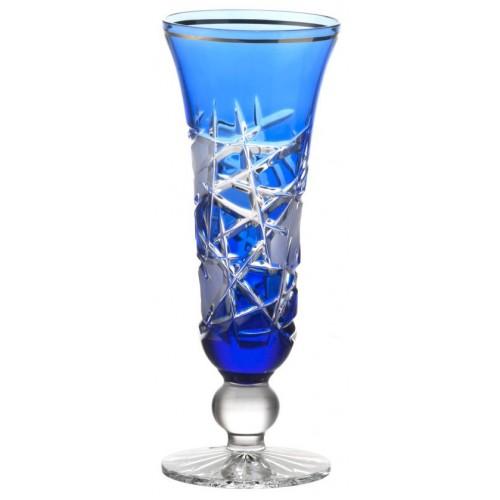 Krištáľová flauta Mars, farba modrá, objem 150 ml