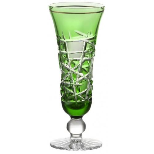 Krištáľová flauta Mars, farba zelená, objem 150 ml
