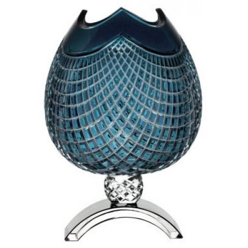 Krištáľová váza Quadrus, farba azúrová, výška 368 mm