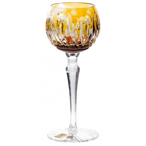 Krištáľový pohár na víno Heyday, farba jantárová, objem 170 ml