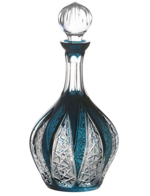 Krištáľová fľaša Flowerbud, farba azúrová, objem 1000 ml