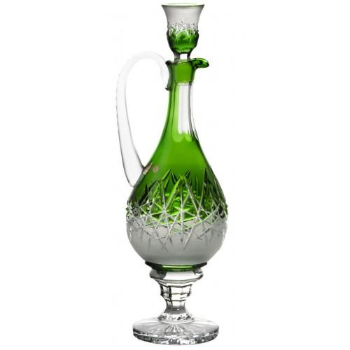 Krištáľová karafa Hoarfrost, farba zelená, objem 1500 ml