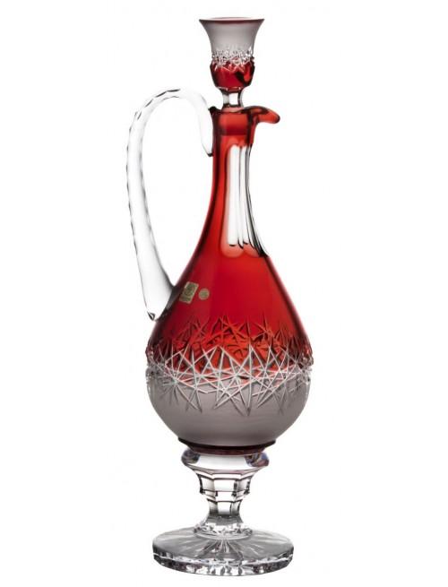 Krištáľová karafa Hoarfrost, farba rubínová, objem 1500 ml