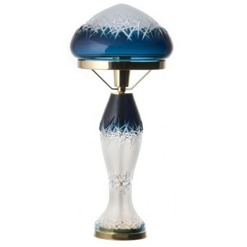 Krištáľová lampa Hoarfrost, farba azúrová, výška 475 mm