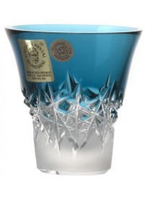Krištáľový pohárik Hoarfrost, farba azúrová, objem 45 ml