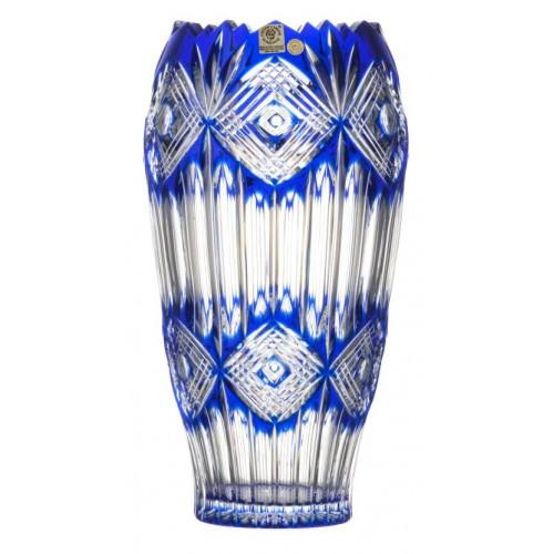 Krištáľová váza Mary, farba modrá, výška 255 mm