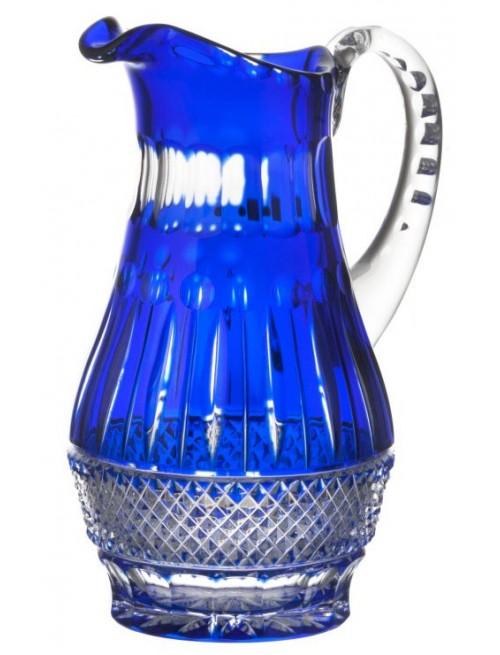 Krištáľový džbán Tomy, farba modrá, objem 1300 ml