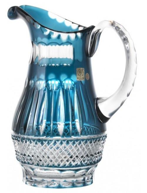 Krištáľový džbán Tomy, farba azúrová, objem 1300 ml