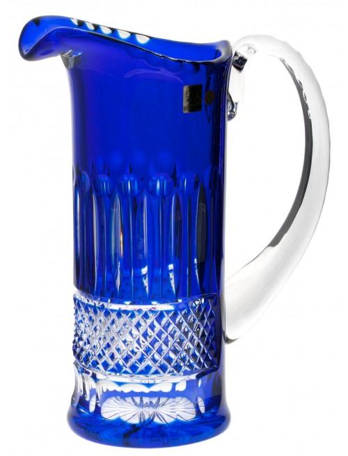 Krištáľový džbán Tomy, farba modrá, objem 1200 ml
