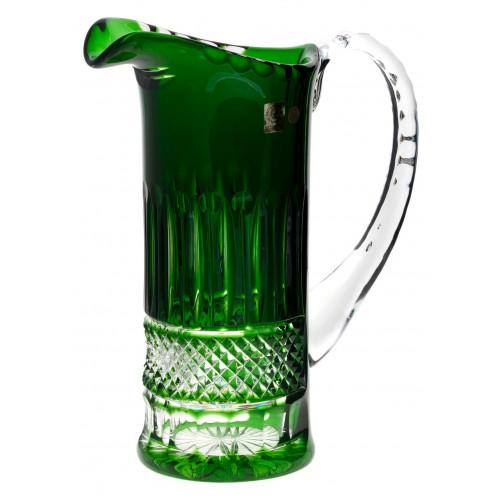 Krištáľový džbán Tomy, farba zelená, objem 1200 ml