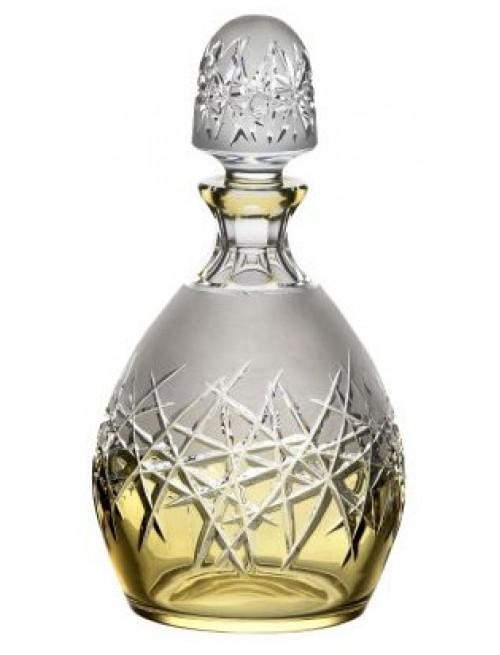 Krištáľová fľaša Hoarfrost, farba jantárová, objem 700 ml