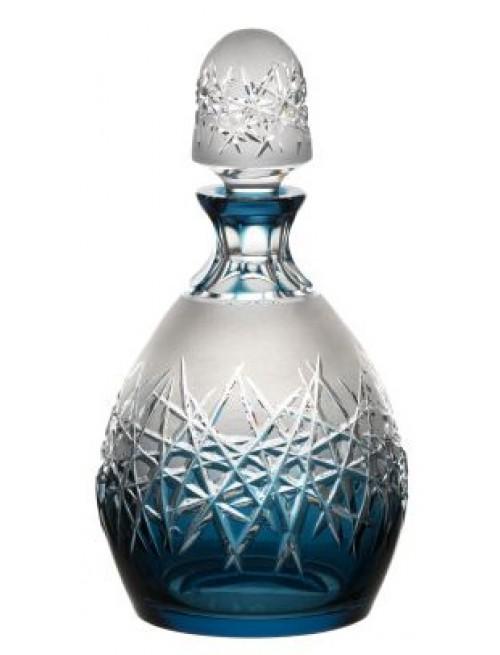 Krištáľová fľaša Hoarfrost, farba azúrová, objem 700 ml