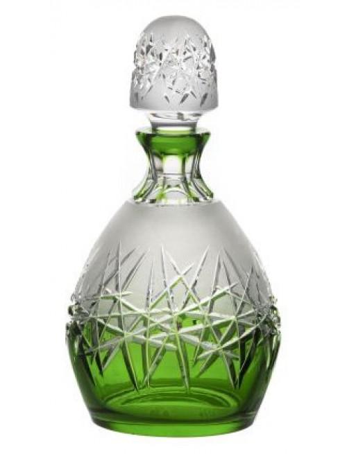 Krištáľová fľaša Hoarfrost, farba zelená, objem 700 ml