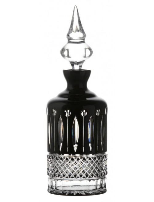 Krištáľová fľaša Tomy, farba čierna, objem 700 ml