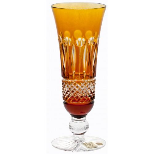 Krištáľová flauta Tomy, farba jantárová, objem 150 ml
