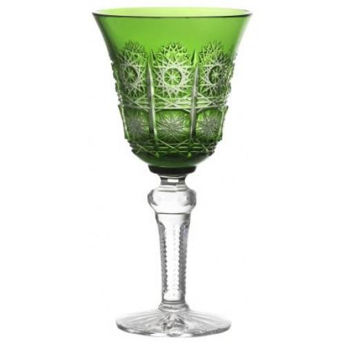 Krištáľový pohár na víno Paula, farba zelená, objem 240 ml